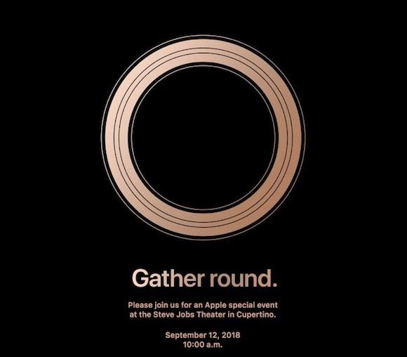 Apple スペシャルイベント 招待状 Gather round.