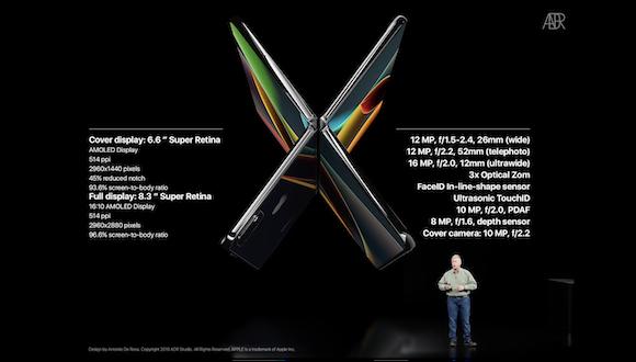「iPhone X Fold」 ConceptsiPhone ANTONIO DE ROSA コンセプトデザイン