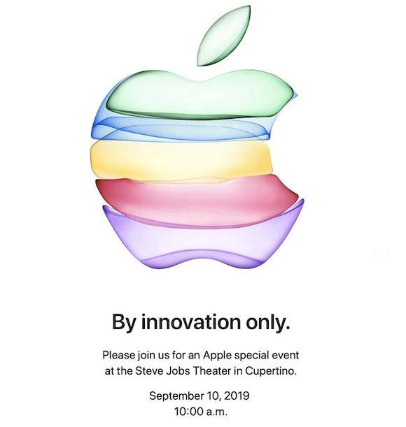 Apple スペシャルイベント 2019年9月10日 By Innovation Only