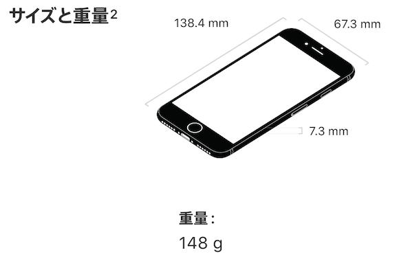 iPhone8 サイズ
