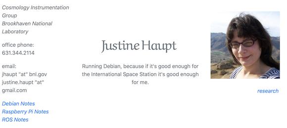Justine Haupt氏