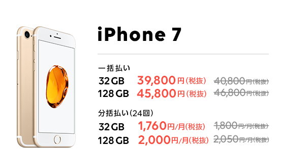 LINEモバイル iPhone7