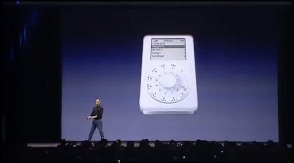 スティーブ・ジョブズ氏 初代iPhone