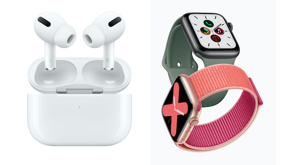 AirPods Pro と Apple Watch Series 5