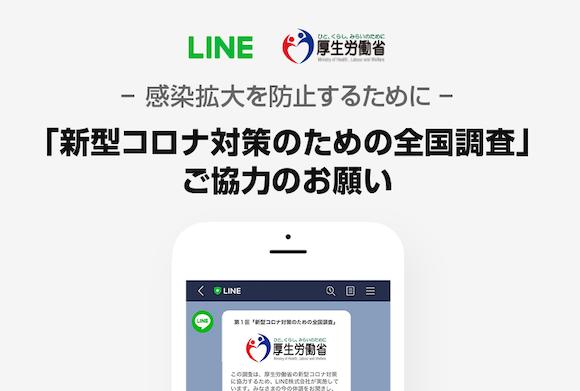 LINE 「新型コロナ対策のための全国調査」