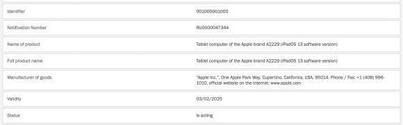 A2229 iPad