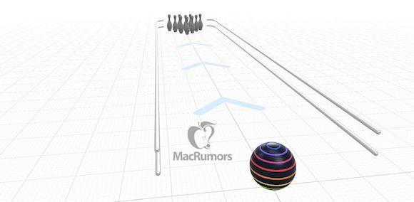 Apple iOS14 AR/VR ボウリングゲーム