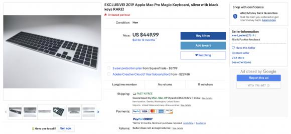 Mac Pro keyboard ebay