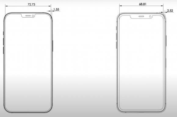 iPhone12 pro max cad front