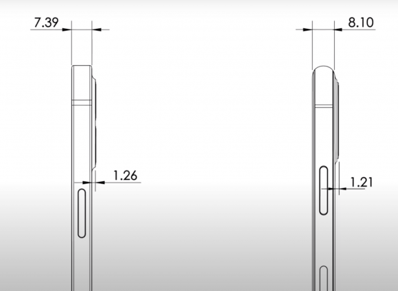 iPhone12 pro max cad side