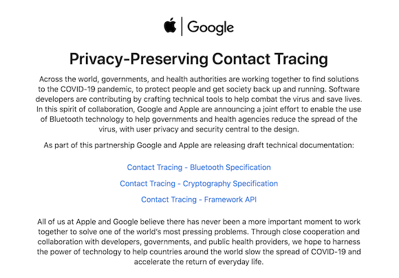 Apple Google 新型コロナウイルス