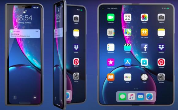 Foldable iphone concept 折りたたみ