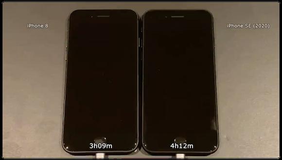 iAppleBytes iPhone SE(第2世代) iPhone8 バッテリー比較