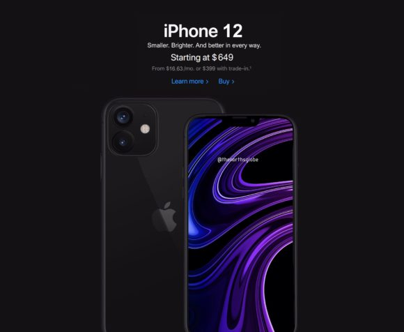 iPhone12 in apple store concept