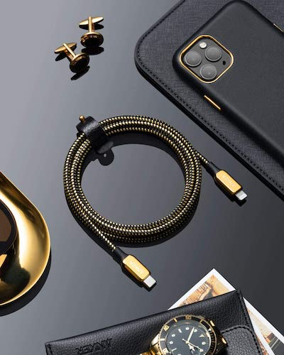 Anker 2020 Special Edition 24K Gold USB C to Lightning Cable (6 ft) PowerLine+ III