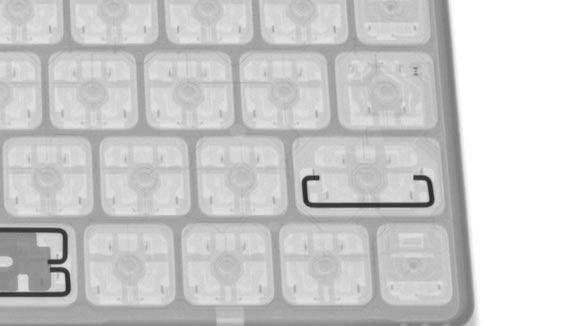 iFixit Magic Keyboard X線写真