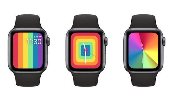 watchOS6.2.5 Apple Watch 2020 プライド Pride 文字盤 ウオッチフェイス