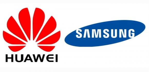 huawei samsung ロゴ