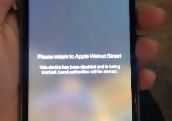 Apple Storeから盗まれたiPhone