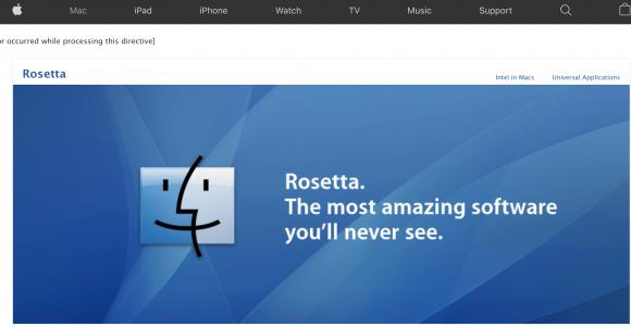 Apple Rosetta