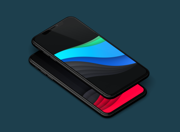 Vector-wave-iPhone-wallpaper