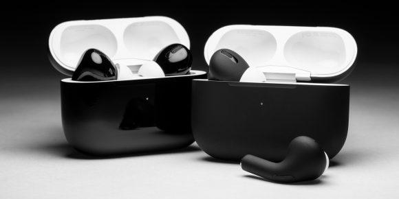 black airpods colorware