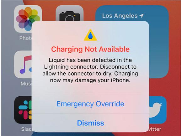 iOS14 充電 液体検知 AppleInsider