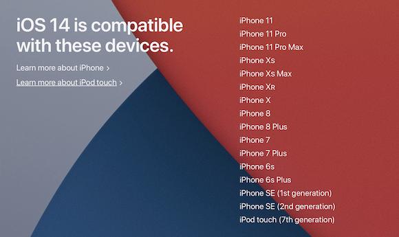 Apple iOS14 Preview 対応機種
