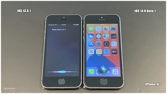 iOS14ベータ1 スピードテスト