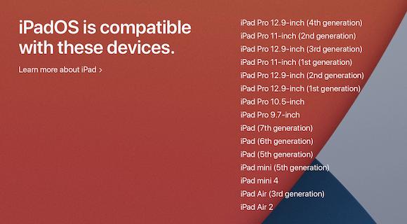 Apple iPadOS14 Preview 対応機種