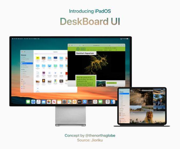 iPad OS DeskBoard UI 2
