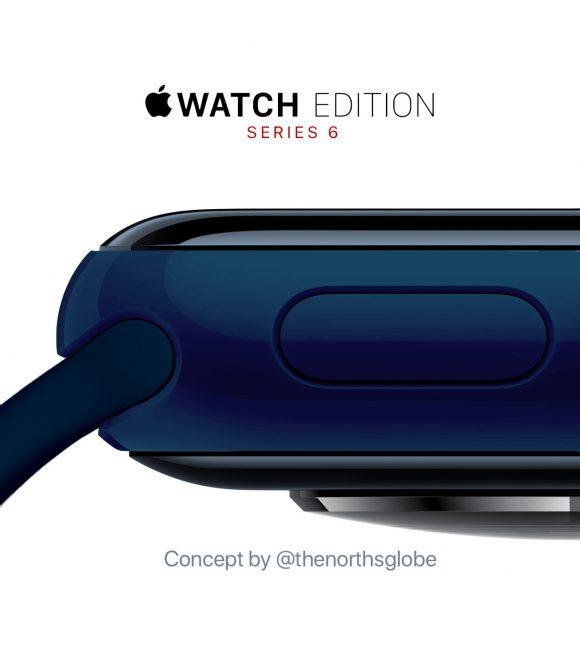 Apple Watch Edition S6セラミック、ミッドナイトブルーのコンセプト画像