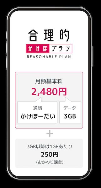 日本通信「合理的かけほプラン」