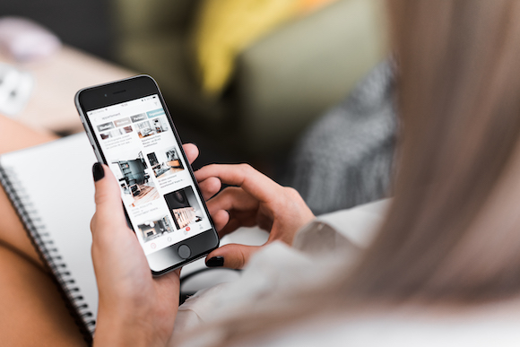 Browsing on Pinterest iPhone App Free Photo