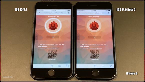 iOS14 ベータ2 スピードテスト