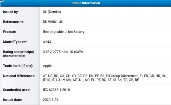 iPhone12 Battery 03