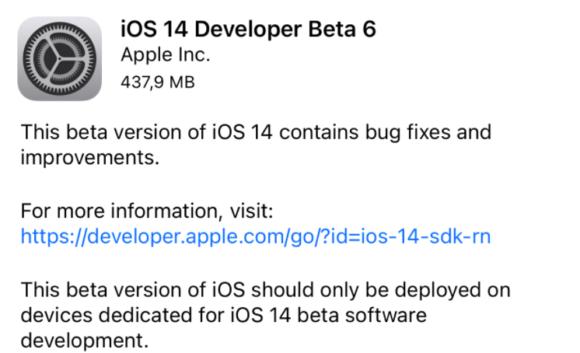 iOS14ベータ6