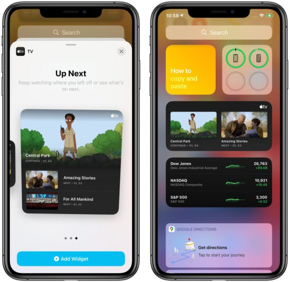 iOS14ベータ4 TVウィジェット