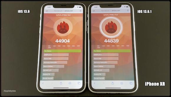 iAppleBytes iOS13.6.1 動作速度テスト