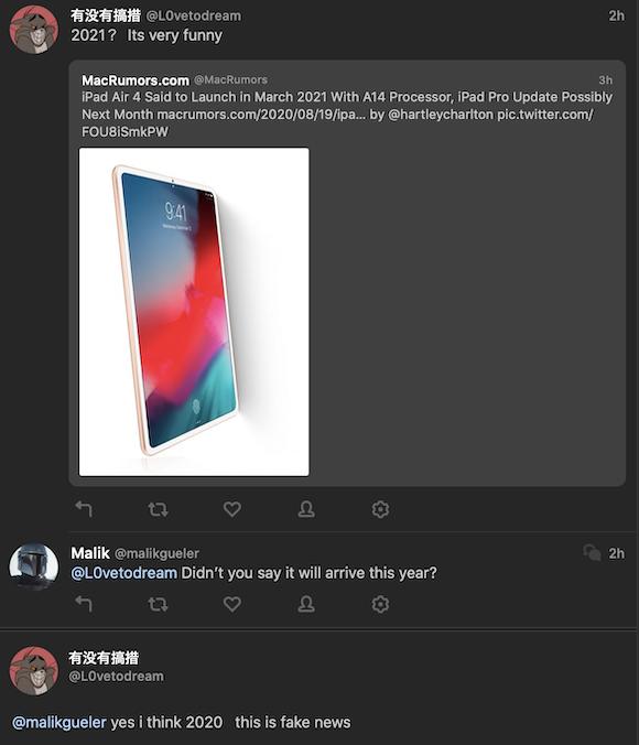 iPad Air 4 fake