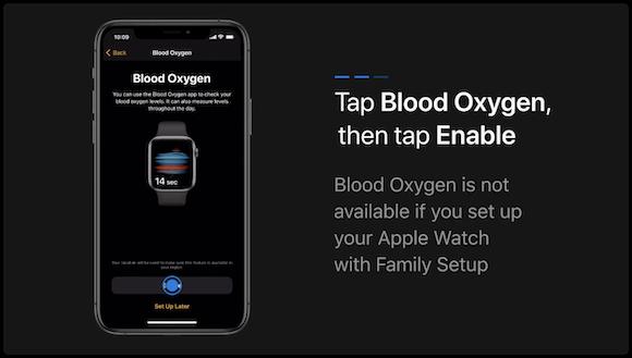 Apple Watch 血中酸素濃度
