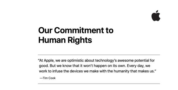 apple 人権 取り組み レポート