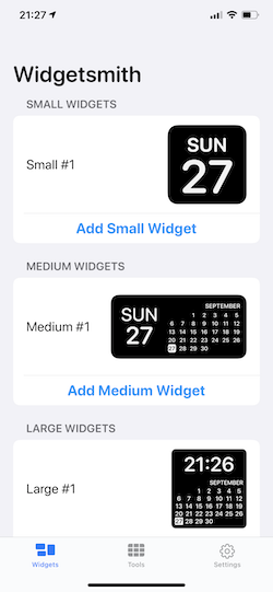 Widgetsmith 使い方