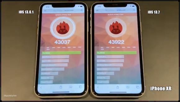 iOS13.7 スピードテスト