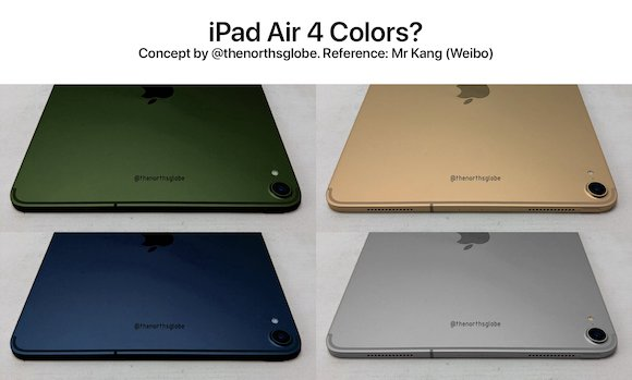 iPad Air 4 colors