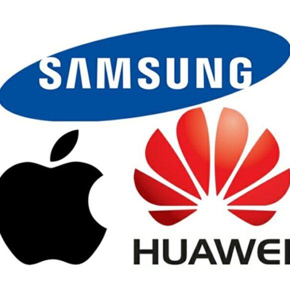 Samsung Huawei Apple ロゴ