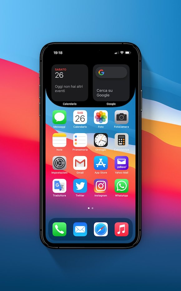macOS Big Sur widget wallpaper 2