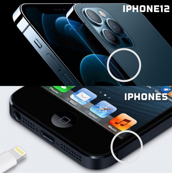 iPhone12 ダイヤモンドカット iphone5 比較