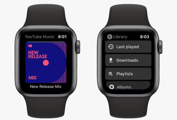 youtube music apple watch アプリ