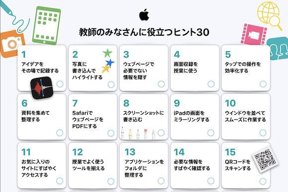 Apple 教師のみなさんに役立つヒント30